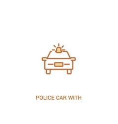 police car with light concept 2 colored icon vector image
