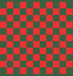 red and green checkered background vector image