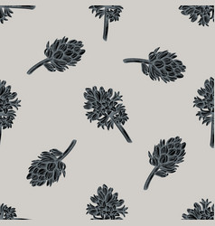 seamless pattern with hand drawn stylized hyacinth vector image