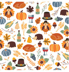 Seamless thanksgiving day pattern vector