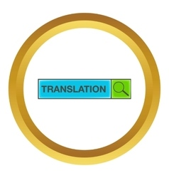 Search translation icon vector