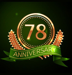 seventy eight years anniversary celebration design vector image