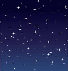 Simple starry night background vector