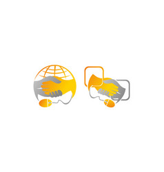 social media deal template set vector image