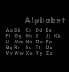 stylized polygonal font and alphabet vector image