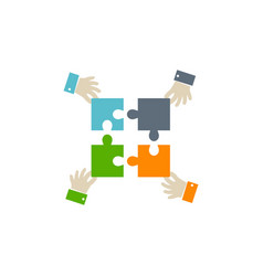 teamwork icon on white background vector image