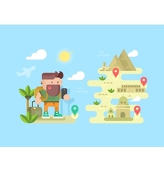 Travel traveler concept design flat vector