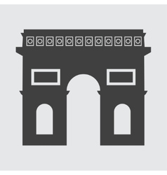 Triumphal arch icon vector
