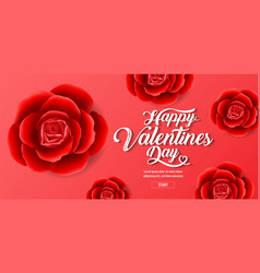 valentines day red roses background sale vector image
