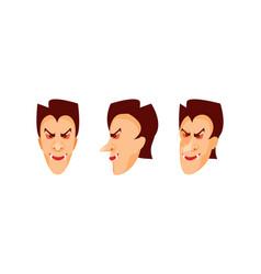 vampire head vector image