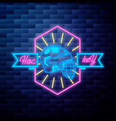 vintage hockey emblem vector image