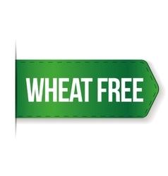 Wheat Free sign ribbon vector image