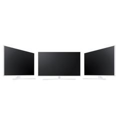 white tv set mockup isolated vector image
