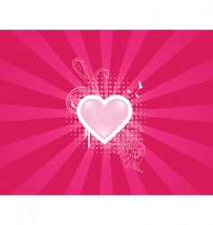 heart floral vector image vector image