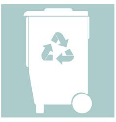 Refuse bin with arrows utilization the white vector