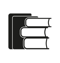 stack of books sign black vector image vector image