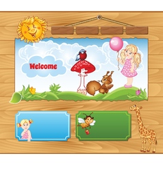 Background for Kid Website vector image vector image