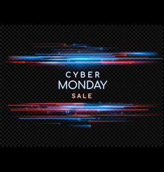cyber monday promotional online sale event vector image vector image