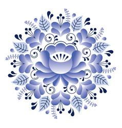 folk art floral pattern russian design inspired vector image
