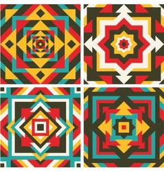 Four geometric pattern vector image vector image