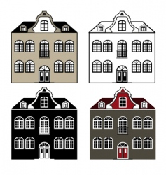 old house vector image