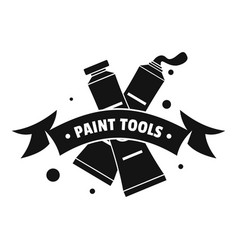painting tool tube logo simple black style vector image