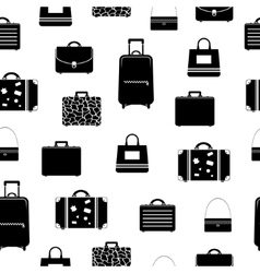 Seamless pattern with bags and suitcases vector image vector image