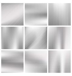 Silver steel titanium aluminium metal vector image