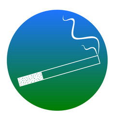 smoke icon great for any use white icon vector image