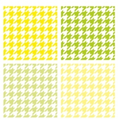 Tile houndstooth pattern green wallpaper set vector image vector image