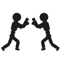 boxing man sign black icon vector image vector image