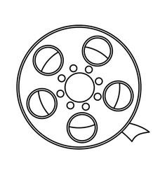 line short filmstrips cinematography production vector image vector image