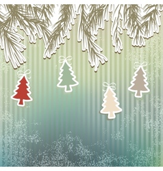 New Years holiday background tree EPS8 vector image vector image