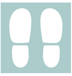 traces the heels of shoes the white color icon vector image