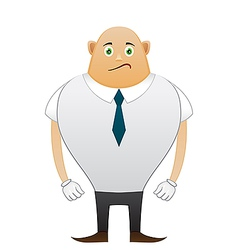 Bald sorrow office man vector image vector image