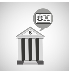 building bank economy money vector image vector image