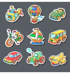 Cartoon collection of Transportation - Colored vector image vector image