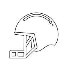 Helmet mask american football equipment outline vector