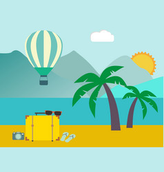 vacation travelling concept flat design vector image