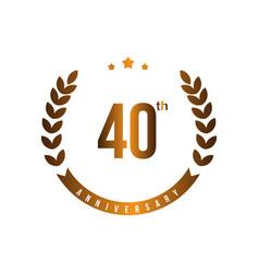 40 th anniversary template design vector image