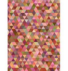 Abstract multicolor triangle mosaic background vector