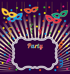 Advertisement party background vector
