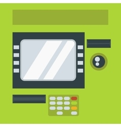 Atm cash dispenser vector