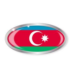 Azerbaijan flag oval button vector