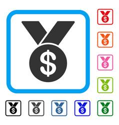 Bestseller medal framed icon vector