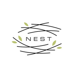 Bird nest logo icon vector