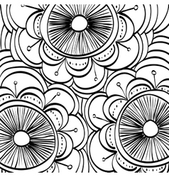 Black and White draw design abstract vector image