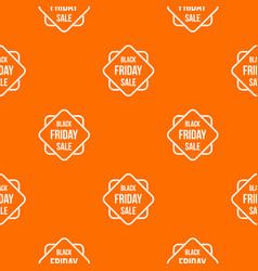 Black friday sale sticker pattern seamless vector