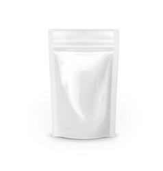 blank foil food or drink bag packaging with zip vector image