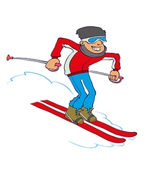 Cartoon Skier vector